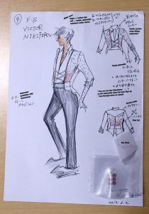The original concept for Victor's ep 1 free program costume.