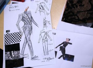 The original concept design for Yuri's In Regards to Love - Eros costume (ep3).