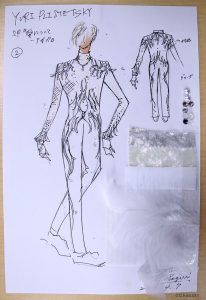 Concept design for Yuri(o)'s In Regards to Love - Agape costume from ep 3.